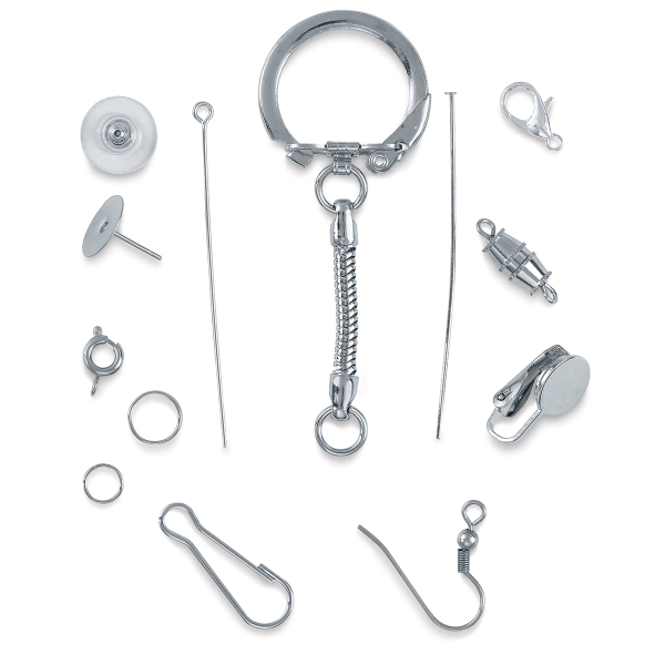 Jewelry Finding Assortment, Nickel Finish