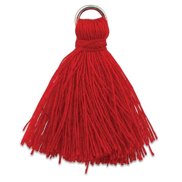 Cotton Tassels, Pkg of 4, Red