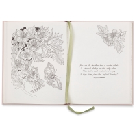 The Flower Year: A Coloring Book