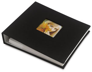 Ringbound Photo Album, Black