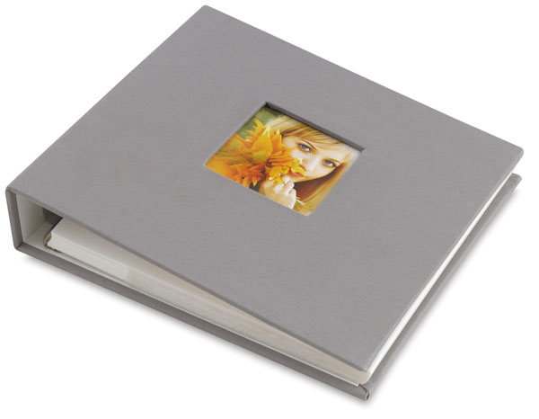 Ringboud Photo Album, Gray