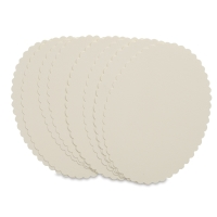 4 Bar Scallop Edge Cards, Soft White, Pkg of 10