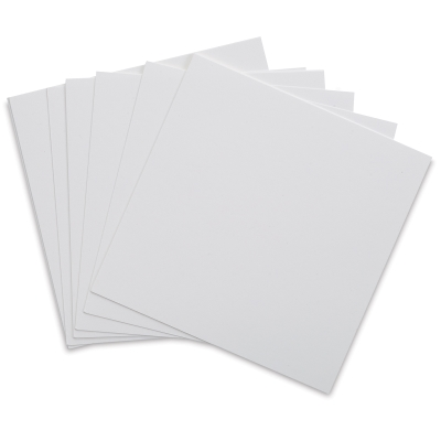 Square Flat Cards, Pure White, Pkg of 10
