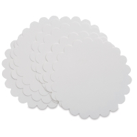 Scallop Edge Circle Cards, Pure White, Pkg of 10