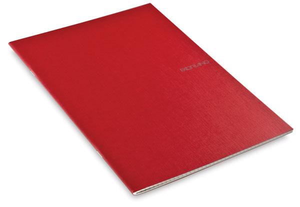 Grid Staplebound Notebook, Raspberry, 38 Sheets