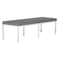 "Lintel Bench, Smoke, 60""W"
