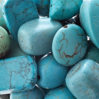 Turquoise Magnesite, Dyed