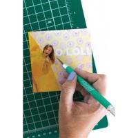 Cushion Grip Knife, Green (Shown in use)