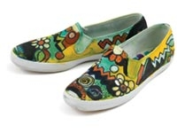 Artist's Canvas Painted Shoes