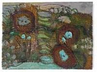 Burlap Pastel Painting