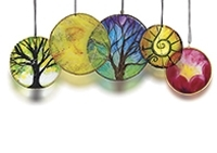 """Painted """"Glass"""" Light-Catching Rings"""