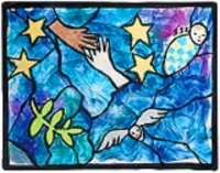 Peace Windows: in the style of Marc Chagall's stained glass