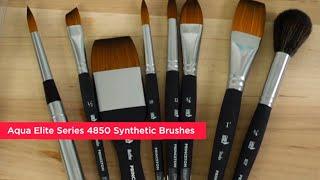 Princeton Aqua Elite Series 4850 Synthetic Watercolor Brushes